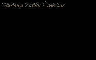 Gárdonyi Zoltán Énekkar
